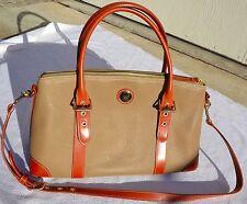 Authentic Vintage Dooney & Bourke handbag purse beige and brown