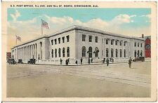 U.S. Post Office in Birmingham AL Postcard 1924