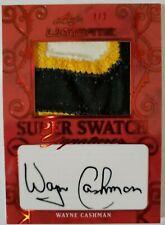 2019-20 Leaf Ultimate Super Swatch Signatures Patch Auto /2 - Wayne Cashman