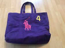 Ralph Lauren Purple Tote Bag Canvas 4 Polo