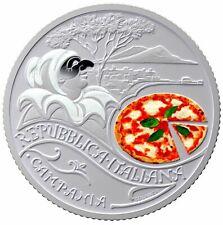MONETA 5 euro PIZZA e MOZZARELLA - Serie Cultura Enogastronomica Italiana