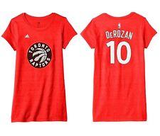Adidas NBA Toronto Raptors Womens Large Mesh Bling Cap Sleeve Tee Shirt Derozan