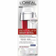 L'OREAL REVITALIFT NIGHT BRIGHT REVEAL OVERNIGHT MOISTURIZER 1 OZ