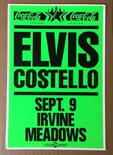 ELVIS COSTELLO Boxing Style '89 Concert Poster RARE! Neon Green ! Irvine Meadows