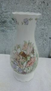 1986 Border fine bone china vase The sweet pea fairy by Cicely Barker 9 ins tall