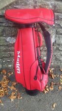 The Masters Golf Compmay 4 Partition Red Golf Bag Carried or Trolley Plus Hood