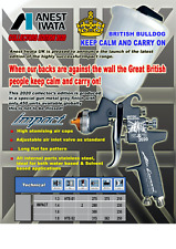 IWATA AZ3 IMPACT GRAVITY SPRAY GUN 1.3MM - LIMITED EDITION BRITISH BULLDOG