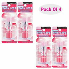4 Pack - Maybelline Baby Lips Glow Lip Balm, My Pink 0.13 oz