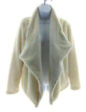 Kensie Jeans Womens Ivoru Faux Fur Coat Winter Casual Size Medium MSRP $68