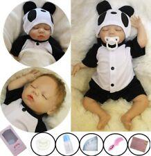 50CM Reborn Baby Puppe Lebensecht Handgefertigt Weich Silikon-Vinyl Junge DE