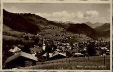Zweisimmen Schweiz Bern Simmental 1932 gelaufen nach Bremen Panorama Landschaft