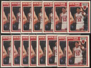 1989-90 Fleer Basketball x15 Lot SCOTTIE PIPPEN Base Card Bulls HOF #23 JE289