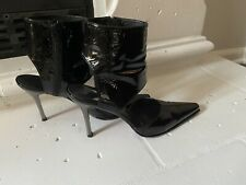Stuard Weitzman Woman's High Heels Black Leather ~ One of the KIND ~