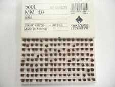 48 swarovski square shape crystal beads,4mm siam #5601