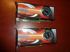 LOT (2) EVGA Nvidia GeForce 9800 GT Video Card 512MB PCIe DDR3 - FREE SHIPPING!