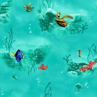 Disney Finding Nemo in Aqua on Sure Strip Wallpaper DS7903