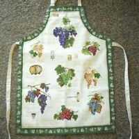 """Kay Dee Wine Grapes Chef Apron 23"""" x 33"""" Made in USA Cotton Blend New Free Ship!"""