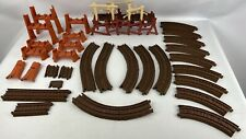 Thomas & Friends TrackMaster Lot Brown Tracks Orange Risers Shake Bridge 29+ Pcs