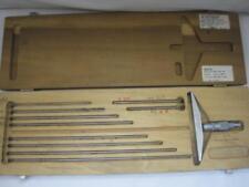 12786 Scherr Tumico Depth Gauge Gage Micrometer 5 Base 0 10 No Wrench Guc