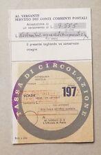 66754 85 Bollo auto Tassa di circolazione 1977 - Fiat 1500