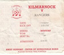 Ticket - Kilmarnock v Rangers 17.08.1997