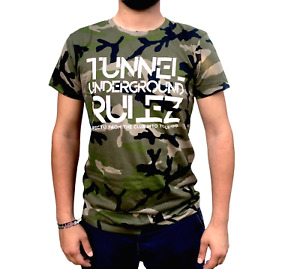 """Tunnel Shirt """"UNDERGROUND RULEZ"""" Camouflage Boys • Größe S"""