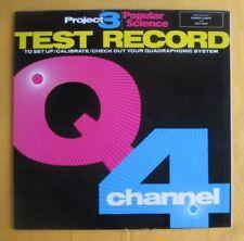 Project 3 Test Record Lp - set up,calibrate a quadraphonic / 4 channel system