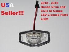 2012 2013 2014 2015 Honda Civic Coupe White LED License Plate Light Lamp 6000K