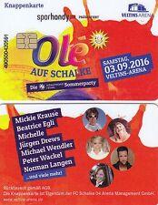 Knappenkarte + FC Schalke 04 + Olé auf Schalke 2016 + Hülle + Restguthaben +