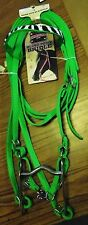 NEW MUSTANG TACK WESTERN PONY BRIDLE LIME NYLON W/ZEBRA & BLING HORSE TACK NR