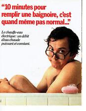 Publicité Advertising 068  1982   chauffe- eau éléctrique  eau chaude baignoire