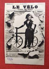 CPA. LE VÉLO. Journal éclaté crevé. Sport. Années 1900. Jeune Femme. Reutlinger.