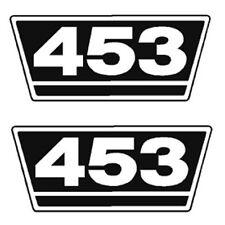 IHC Traktor Aufkleber 2xTypenaufkleber 453 Logo Emblem Sticker Label ca. 15x7cm