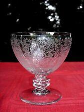 BACCARAT MARILLON WINE GLASS VERRE A VIN CRISTAL GRAVÉ MOYEN AGE MIDDLE AGE A
