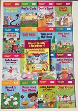 16 Word Family Phonics Readers Books Kids Kindergarten First Grade W/ Guide
