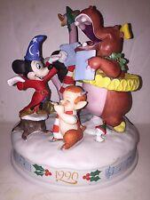 DISNEY PARKS EXCLUSIVE 1990 Christmas Figurine Mickey Fantasia LE 5000