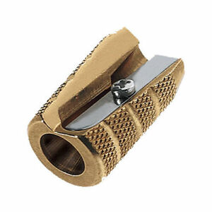 Solid Metal Brass Pencil Sharpener Shell Grenade Bullet Style Made In Germany