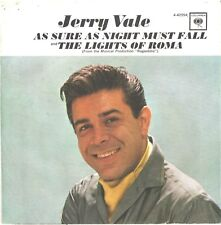 JERRY VALE--PICTURE SLEEVE ONLY--(AS SURE AS NIGHT MUST FALL)--PS--PIC--SLV
