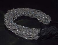 "Labradorite Gemstone 3.5-4mm Rondelle Faceted Beads 12.5"" 1 Loose Strand HTG4545"