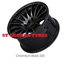 "4X 16"" GENUINE XXR 550 CHROMIUM BLACK WHEELS XXR550 RIMS OFFICIAL STANCE CONCAVE"