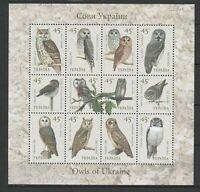 Ukraine 2003 Birds Owls MNH sheet