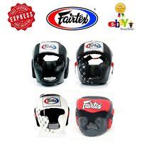 Fairtex Muay Thai Kick Boxing MMA K1 Black Head Gear Guard