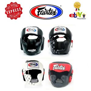 Fairtex Muay Thai Kick Boxing MMA K1 Black Head Gear Guard