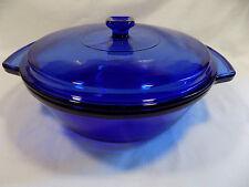 Cobalt Blue Anchor (Hocking) Large 2 Quart Lidded Casserole Dish Bakeware