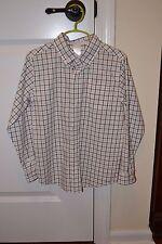 NWT Boys Janie & Jack Button Plaid Down Shirt Size 6