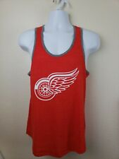 Official NHL Detroit Redwings Red Tank Top Size Large Free Shipping!