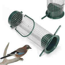 Garden Portable Hanging Bird Feeder Wire Mesh Tube Feeder Outdoor Yard Green