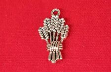 "BULK! 30pc ""barley"" charms in antique silver style (BC1013B)"