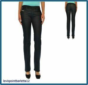 diesel jeans da donna pantaloni vita bassa bootcut a zampa gamba dritta 28 30 44