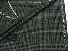 TAYLOR & LODGE WOOL/CASHMERE JACKETING FABRIC, FAWN/BLACK/GREY CHECK 2.5MTRS